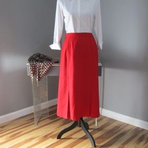 Vintage Pendleton 100% Wool Red Skirt Size 12